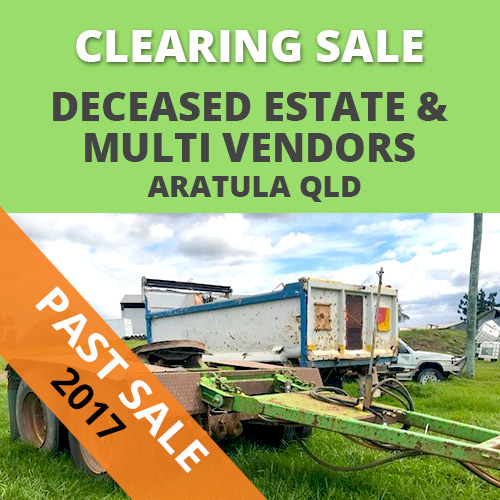 Aratula Deceased estate Auction –  Saturday 25th November 2017