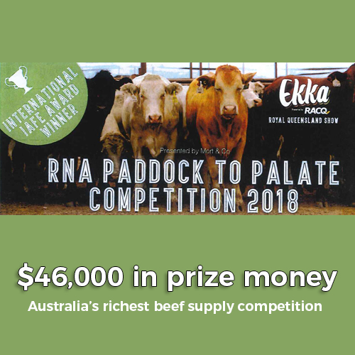 2018 RNA Paddock To Plate Competition